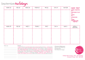 Screen Shot - holiday planner