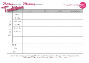 Printable-Traditions Worksheet image