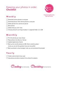 Free Printable-Photos in order checklist image